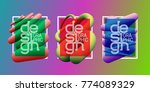colorful frames set with... | Shutterstock .eps vector #774089329