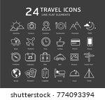 set of travel icons | Shutterstock .eps vector #774093394