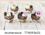trifle black and white... | Shutterstock . vector #774093631