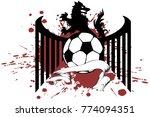 heraldic black wolf soccer f... | Shutterstock .eps vector #774094351