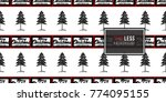 vector big forest fir and merry ... | Shutterstock .eps vector #774095155