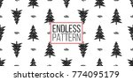 vector forest fir and merry... | Shutterstock .eps vector #774095179