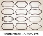 shape of vintage frame set on... | Shutterstock .eps vector #774097195