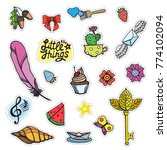 set of colorful stickers ... | Shutterstock .eps vector #774102094