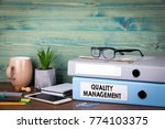 quality management concept.... | Shutterstock . vector #774103375
