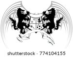 heraldic wolf soccer f tbol... | Shutterstock .eps vector #774104155
