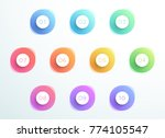 abstract bullet point 3d... | Shutterstock .eps vector #774105547