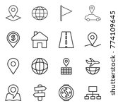 thin line icon set   pointer ... | Shutterstock .eps vector #774109645