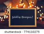 happy new year wishes written... | Shutterstock . vector #774110275