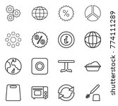thin line icon set   gear ...   Shutterstock .eps vector #774111289