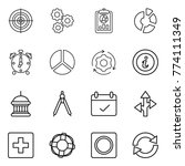 thin line icon set   target ...   Shutterstock .eps vector #774111349