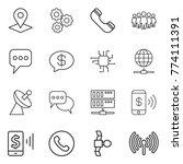 thin line icon set   pointer ...   Shutterstock .eps vector #774111391