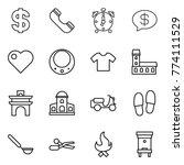 thin line icon set   dollar ... | Shutterstock .eps vector #774111529