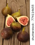 Small photo of Ripe sweet figs . Healthy mediterranean fig fruit .
