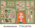 woman character constructor.... | Shutterstock .eps vector #774116701