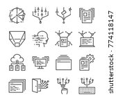 big data icon set. included the ... | Shutterstock .eps vector #774118147