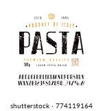 sans serif font in retro style... | Shutterstock .eps vector #774119164