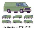 green van set. road vehicle for ...   Shutterstock .eps vector #774119971