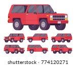red offroad set. motor vehicle... | Shutterstock .eps vector #774120271