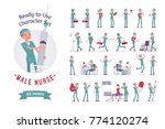male nurse ready to use... | Shutterstock .eps vector #774120274