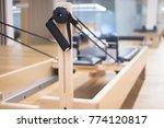 reformer pilates studio machine ... | Shutterstock . vector #774120817