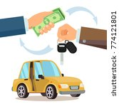 buying a car vector. dealer ... | Shutterstock .eps vector #774121801