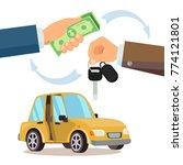buying a car vector. dealer ... | Shutterstock .eps vector #774121801