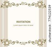 invitation template  background ... | Shutterstock .eps vector #774122539