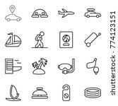 thin line icon set   car... | Shutterstock .eps vector #774123151