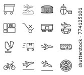 thin line icon set   delivery ...   Shutterstock .eps vector #774125101