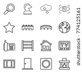 thin line icon set   magnifier  ...   Shutterstock .eps vector #774125161