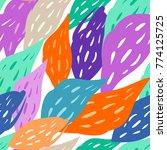 vector stylized seamless...   Shutterstock .eps vector #774125725