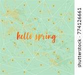 hello spring poster on light...   Shutterstock .eps vector #774126661