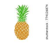 hand drawn pineapple fruit in... | Shutterstock .eps vector #774126874
