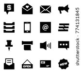 origami style icon set   sms...   Shutterstock .eps vector #774131845
