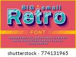 retro font 90's  80's....   Shutterstock .eps vector #774131965