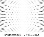 abstract halftone wave dotted... | Shutterstock .eps vector #774132565