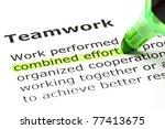 combined effort highlighted in... | Shutterstock . vector #77413675