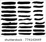 collection of hand drawn grunge ... | Shutterstock .eps vector #774143449