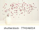christmas tea cup with... | Shutterstock . vector #774146014