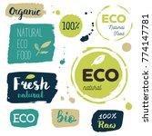 fresh  organic  gluten free ... | Shutterstock .eps vector #774147781