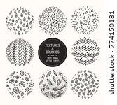 hand drawn textures and brushes.... | Shutterstock .eps vector #774150181