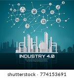 industry 4.0 concept image.... | Shutterstock .eps vector #774153691