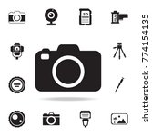 camera icon with shadow. set of ...   Shutterstock .eps vector #774154135