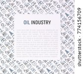 oil industry concept with thin... | Shutterstock .eps vector #774156709