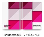 square business a4 brochure... | Shutterstock .eps vector #774163711