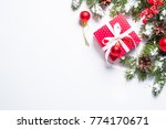 christmas background. red... | Shutterstock . vector #774170671