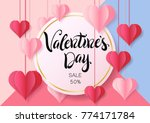 happy valentine's day design... | Shutterstock .eps vector #774171784