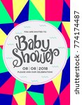 baby shower invitation card. | Shutterstock .eps vector #774174487