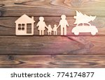 house  family  car with a... | Shutterstock . vector #774174877